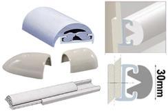 Profilleiste aus starrem Duralen Kunststoff, mit flexibler PVC-Einlage 30mm