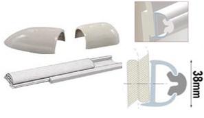 Profilleiste aus starrem Duralen Kunststoff, mit flexibler PVC-Einlage 38mm