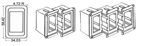 Rahmen für Schalter Gehäuse