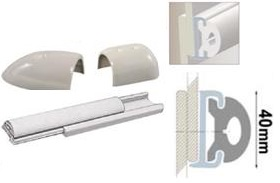Profilleiste aus starrem Duralen Kunststoff, mit flexibler PVC-Einlage 40mm