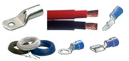 Kabel Leitung und Kabelschuhe