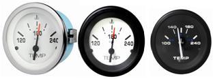 Wasser- und Öltemperaturanzeige 120-240 F