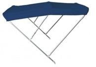 Faltverdeck Modell ARCHI mit 3 Bögen ALU 22mm Höhe 115cm  blau