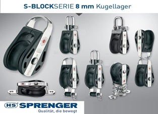 HS Sprenger 8mm S-Block Serie Kugellager