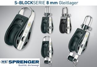 HS Sprenger 8mm S-Block Serie Gleitlager