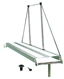 Gangway aus Eloxal Halter aus rostfreiem Stahl Länge 2000mm