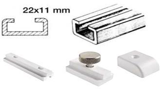 Schiene aus Leichtmetall 22x11mm