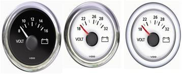 Voltmeter 8/16 V oder 18/32 V VDO ViewLine