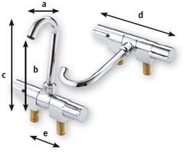 Verchromter Mischhahn drehbar D = 155mm