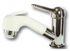 Verchromter Einhebel-Mischhahn mit Handdusche