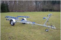 Schlauchboottrailer Marlin BTS 500 kg Ungebremster Bootsanhänger. Bootstrailer