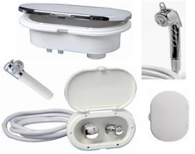 Kunststoffbox mit Brausearmatur aus UV-beständigem LURAN BBN6