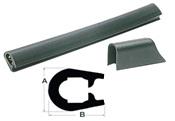 Scheuerleiste schwarzem und weißem PVC Aussenmaße von 18 x 26mm bis 37 x 45mm
