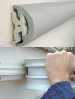 RADIAL Stoßkanten Profil aus PVC 80mm