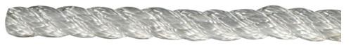 Leine aus Polyester 3- fach geschlagen, hohe Festigkeit weiß