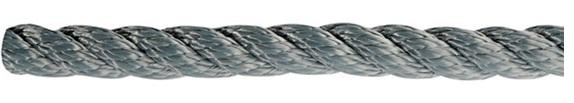 Leine aus Polyester 3- fach geschlagen, hohe Festigkeit Grau