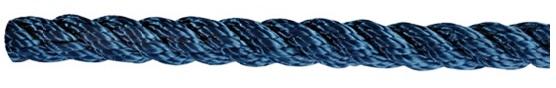 Leine aus Polyester 3- fach geschlagen, hohe Festigkeit blau