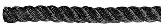 Leine aus Polyester 3- fach geschlagen, hohe Festigkeit  schwarz