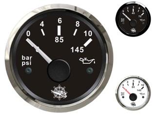 Öldruckanzeige bis 5 und bis 10 bar oder 145 psi