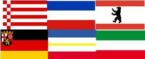 Bundesländerflaggen 400x600mm, 500x750mm, 600x900mm