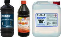 Lampenöl und Petroleum
