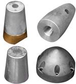 Anoden für Propeller und Shaft von Tecnoseal