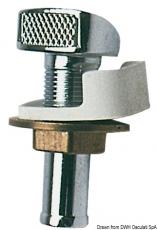 Tanklüfter aus verchromten Messing Schlauchanschluss 16mm