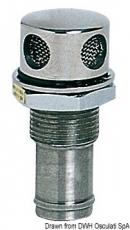 Tanklüfter aus rostfreiem Edelstahl gerade 16mm