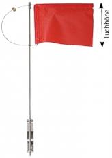 Verlicker mit Seitenhalter und Tuch 125mm mit Gegengewicht