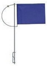 Verlicker mit Seitenhalter und blauen Tuch 100mm mit Gegengewicht