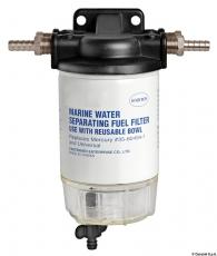 Benzin Treibstofffilter mit Wasserabscheider Leistung 192 l/h mit Druck - 0,49 PSI