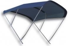 Edelstahl Sonnentop Biminox  Breite 170 cm Dachlänge 200cm Höhe 140cm bis 60 kmh
