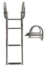 Ausziehbare Leitern für Badeplattform mit Griffen BBN06 4 Stufen schwarz