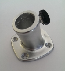 Flaggenstockhalter aus eloxiertem Aluminium mit Neigung 13mm