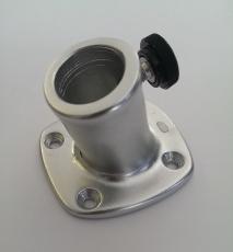 Flaggenstockhalter aus eloxiertem Aluminium mit Neigung 16mm