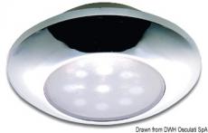 Wasserdichte Deckenleuchte, verchromt m. weißem LED IP40