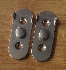 1 Paar Haltebasen aus Edelstahl für Badeleitern Spiegelmontage