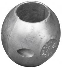 Wellenanode Shaft USA Typ Kugelform Zink Welle 30mm