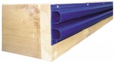 Steg-Profilleisten Doppelt D-Profil 2,4m blau