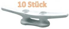 10 x Kunststoffklampen weiß Lochabstand 30mm