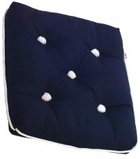 Kapokkissen  Farbe blau Maße  35 x 46 x 13 cm