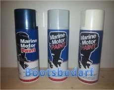Marine Motor Paint Farbspray für Außenborder von JOHNSON in weiß ab Baujahr 1981 MSF 106