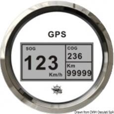 GPS Geschwindigkeitsmesser Typ 2 Anzeige weiß, Ring Edelstahl Kein Geber notwendig.