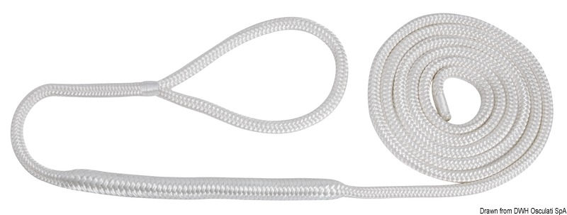 Festmacher-Leine aus Polyester-Doppelgeflecht mit Auge hohe Festigkeit Ø16mm
