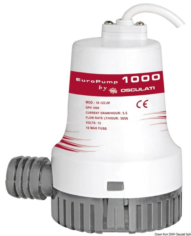 Schmutzwassertank mit automatischer Pumpe EUROPUMP AUTO Bilgenpumpe
