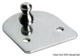 Befestigungsplatte Version compact, eben Version Kugelfeder Ø 10 mm
