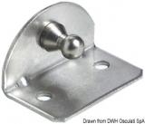 Befestigungsplatte compact Version 90° Version mit Kugelfeder Ø 10 mm innen