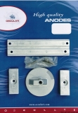Anoden-Set MERCURY VERADO 4  OPTIMAX Anoden-Set MERCURY Aluminium
