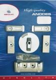 VERADO 6 Anoden-Set MERCURY Aluminium