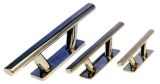 Beleg Klampe polierter rostfreier Stahl  Länge 145 mm